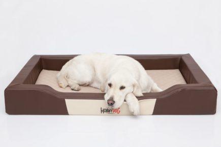 hondenbed luxe gemaakt van leer