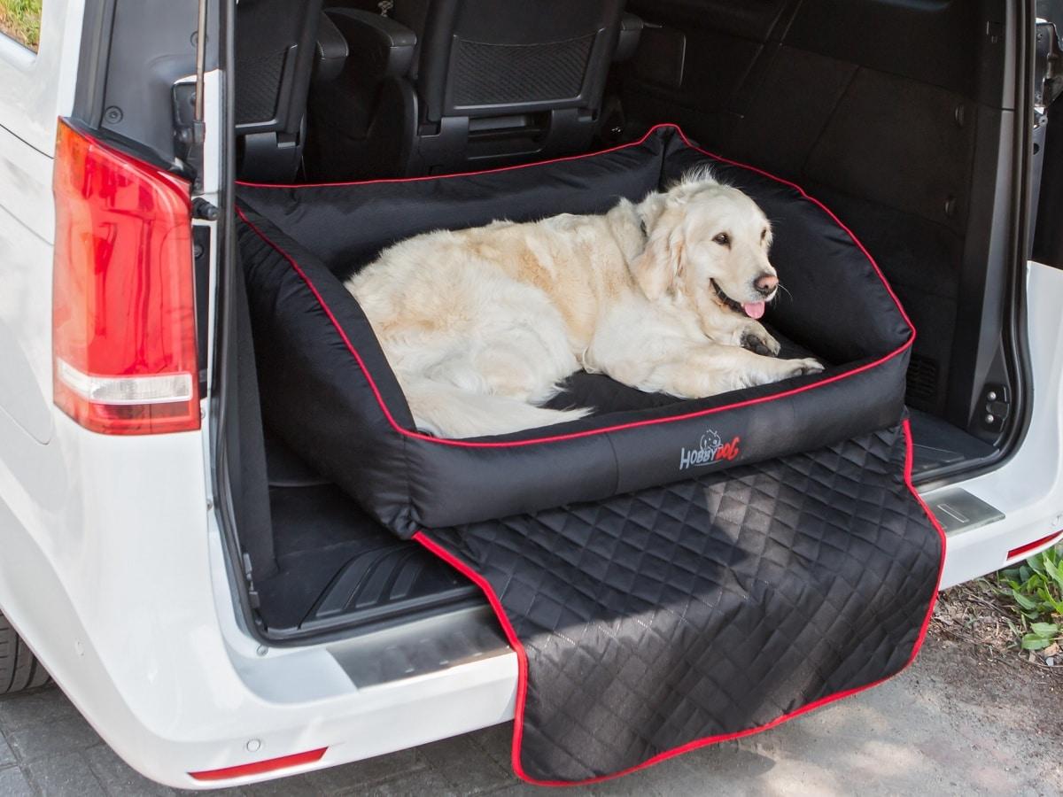 Autobed Royal Trunk Zwart Hondenkussen Hondenbedden Bocca Lupo